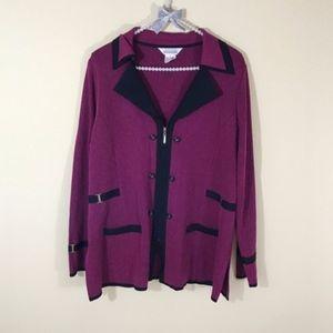 Exclusively Misook Trim Zip Blazer Jacket Work